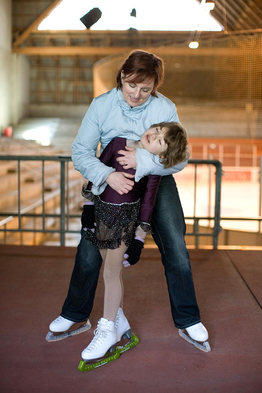 Nachwuchs Eiskunstlauf, Claudia + Lea Moor
