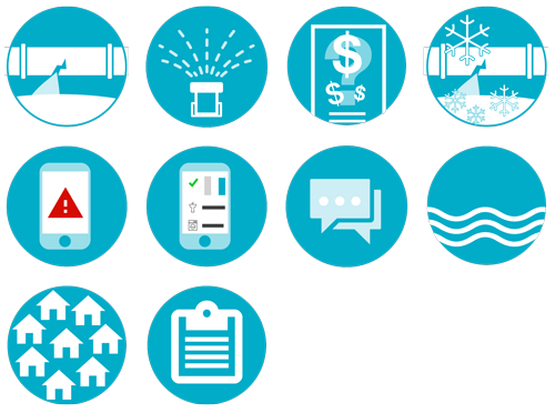 Buoy Labs icons for product brochures