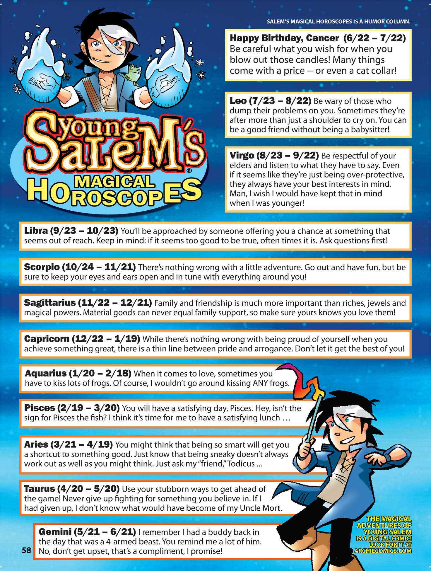 Young Salem's Magical Horoscopes
