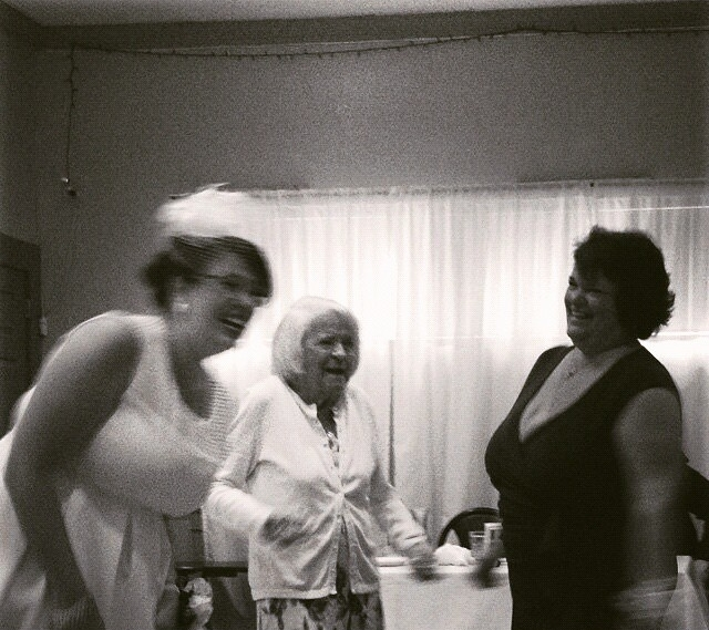 Three generations of Rotante ladies dancing and laughing together at my wedding party.