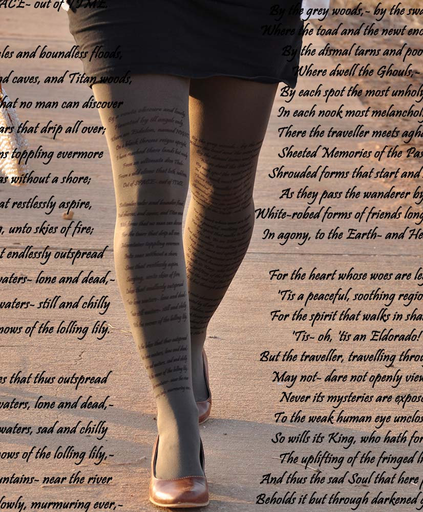 Stay Fashionable And Show Off Your Favorite Literary Quotes With These 6 Tights