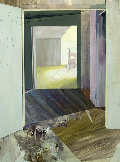 Doorway to the Chair, 2016, acrylic and oil on canvas, 40in x 30in