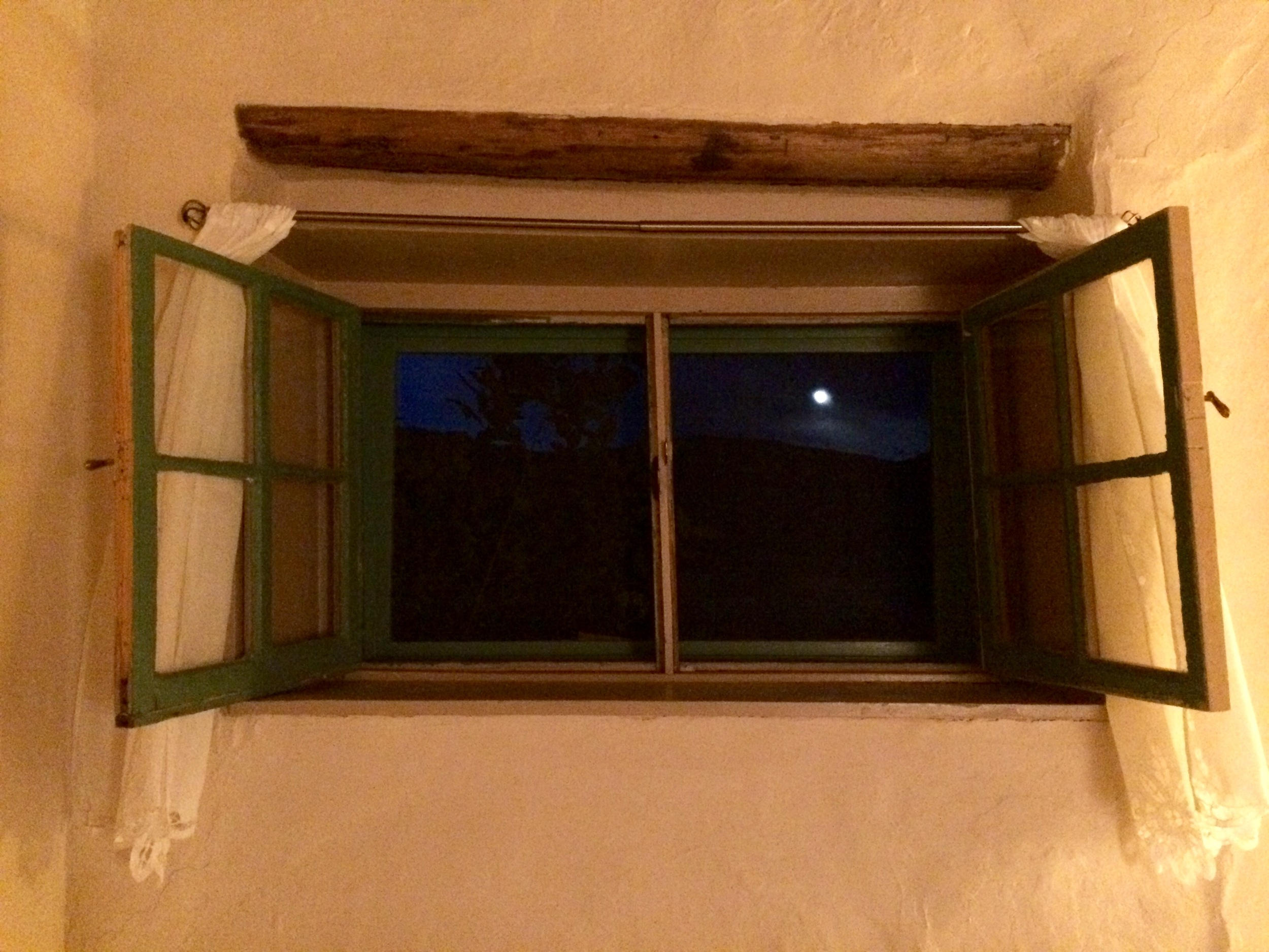 Full moon over Taos Mountain, from Georgia O'Keeffe's room in the Mabel Dodge Luhan House.