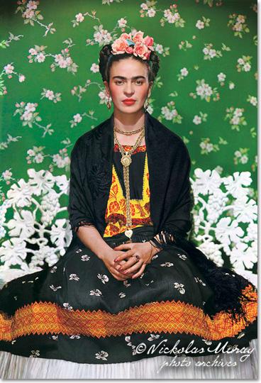 Frida on Bench, by Nickolas Muray .