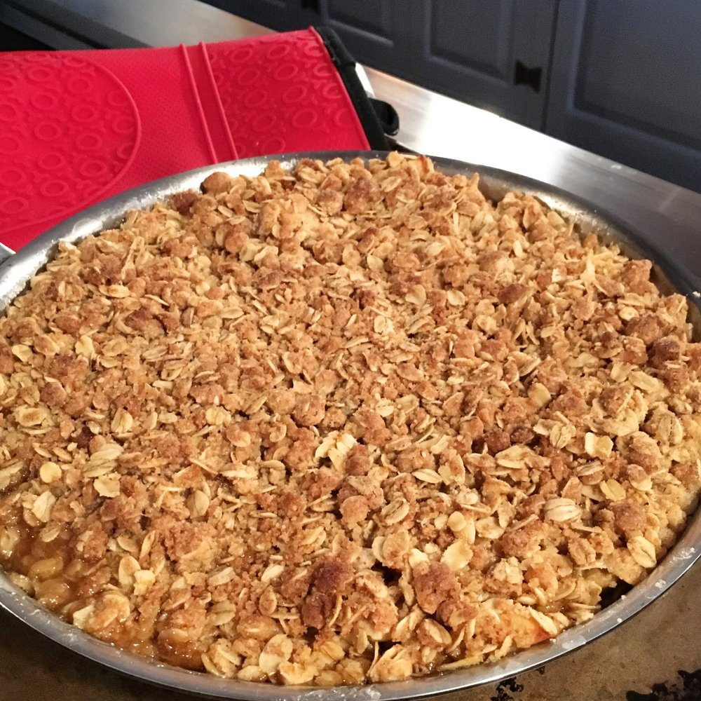 skillet apple crisp - fall favorite