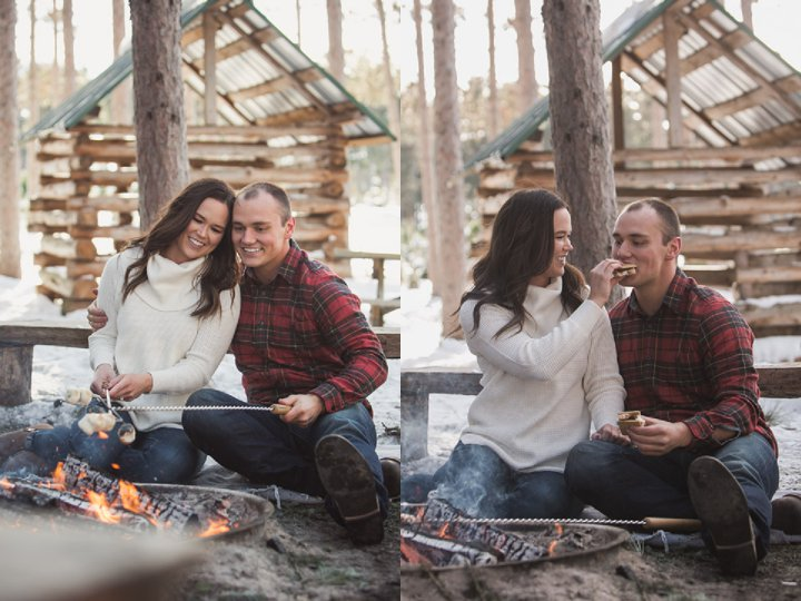 Brie + Tyler - Boho Campfire Outdoor Engagements