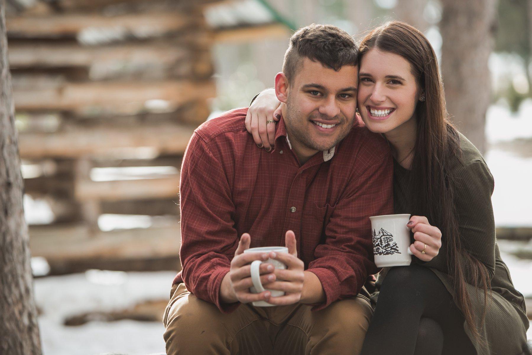 Emma + Kyler -  Cozy Intimate Winter Engagements