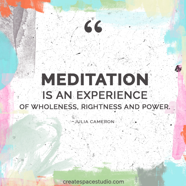 meditate! createspacestudio.com