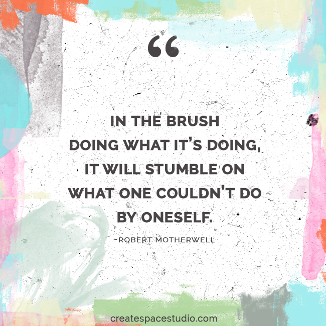 the brush has a mind of its own. createspacestudio.com