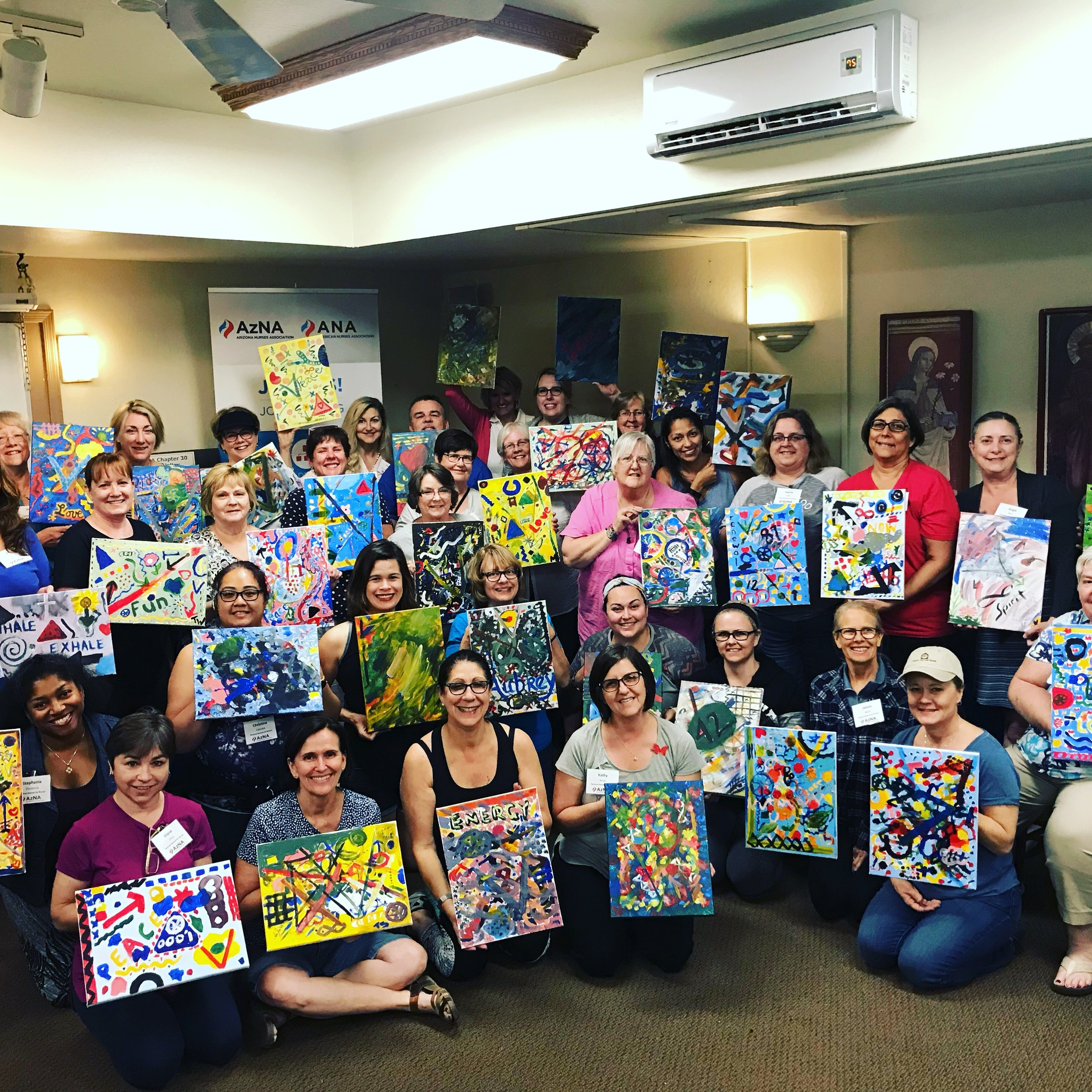 Arizona Nurses Association retreat paint party.