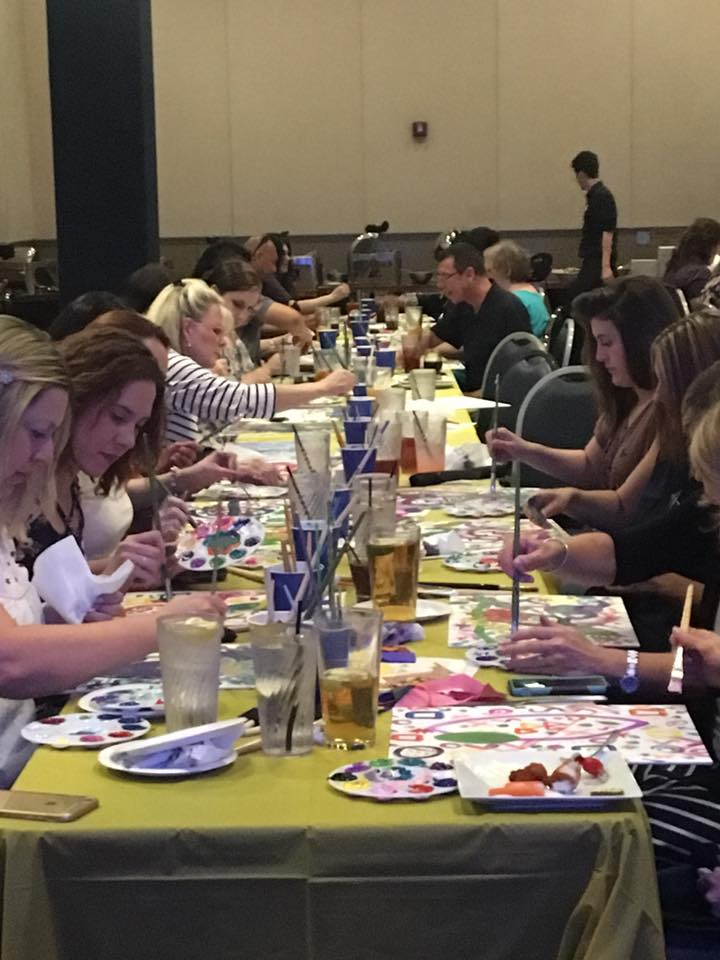 Dave n busters Paint Party - createspacestudio.com