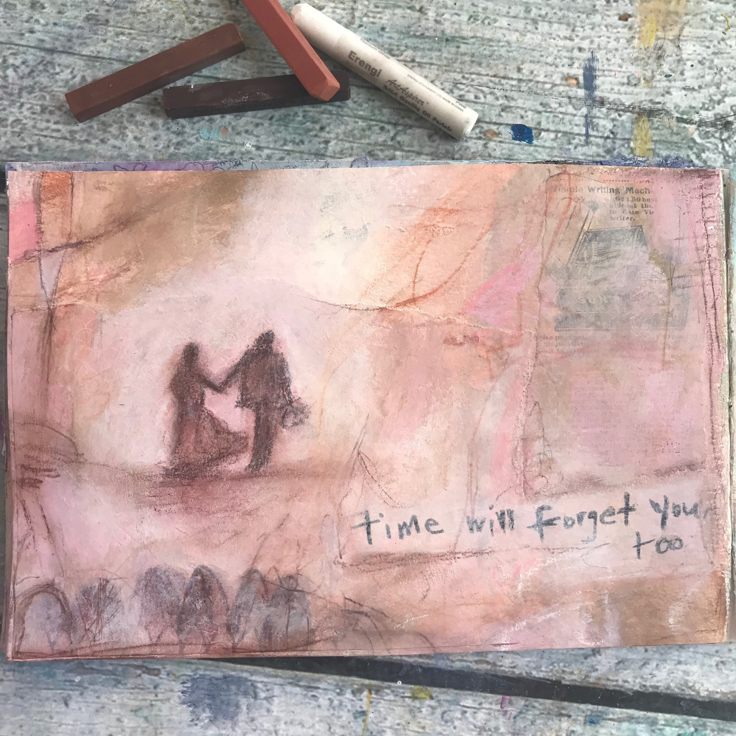 Time will forget you too...a painting meditation on the passing of time by Cheryl Sosnowski - createspacestudio.com