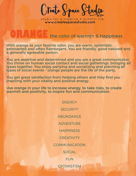 Orange color meditation - painting meditations at createspacestudio.com