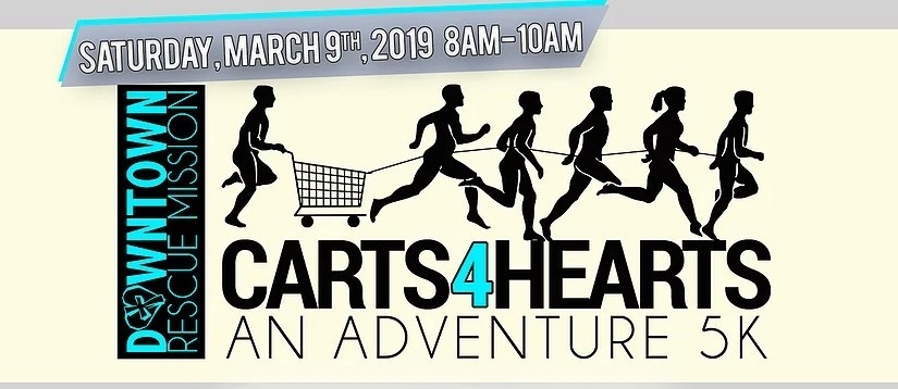 www.carts4hearts.com   Here's what the event consists of: 30 teams of 4 - 6 heavily-costumed humanoids, raising Food and Funds for the purpose of changing lives of the homeless and hurting in Huntsville, all while racing tricked-out shopping carts through the frigid streets of downtown Huntsville.