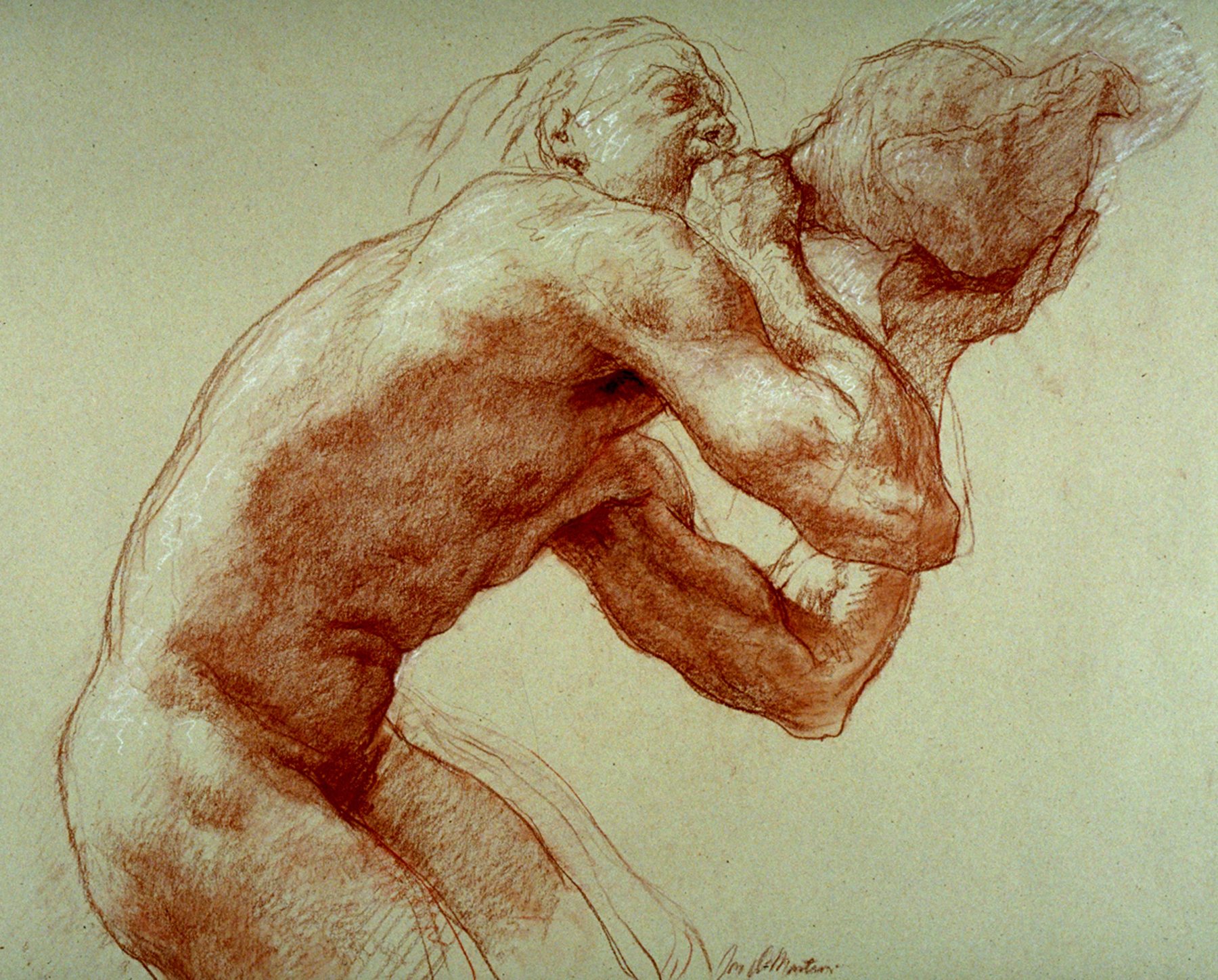 "Triton  2002 Red & White Chalk  18"" x 24"""