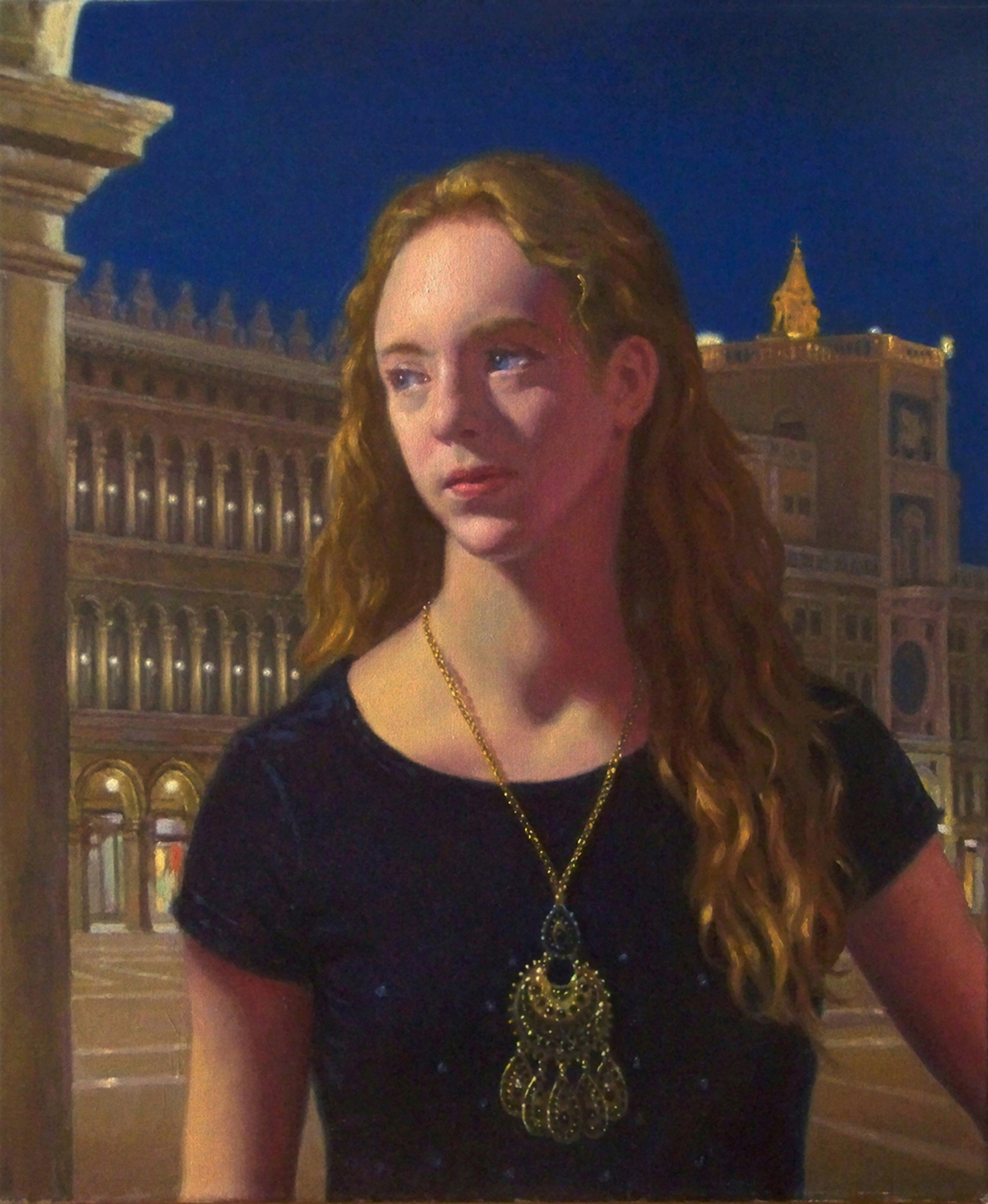 "Victoria in Venice  2014 Oil on Canvas 24""x20"""