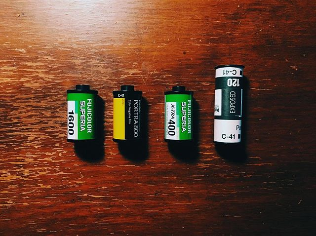 These four rolls are about a year old and have yet to be developed. At least one is severely sun damaged and the others definitely haven't been preserved properly, but we haven't really touched our Mamiya or Minolta since moving to Detroit last year.  It's about time to start again.  Also i know it's April Fool's but this is not an April Fool's post. Sorry to disappoint.  #aprilfools #mamiya645 #minoltasrt101 #minolta #mamiya #portra #fujifilm #film #photography
