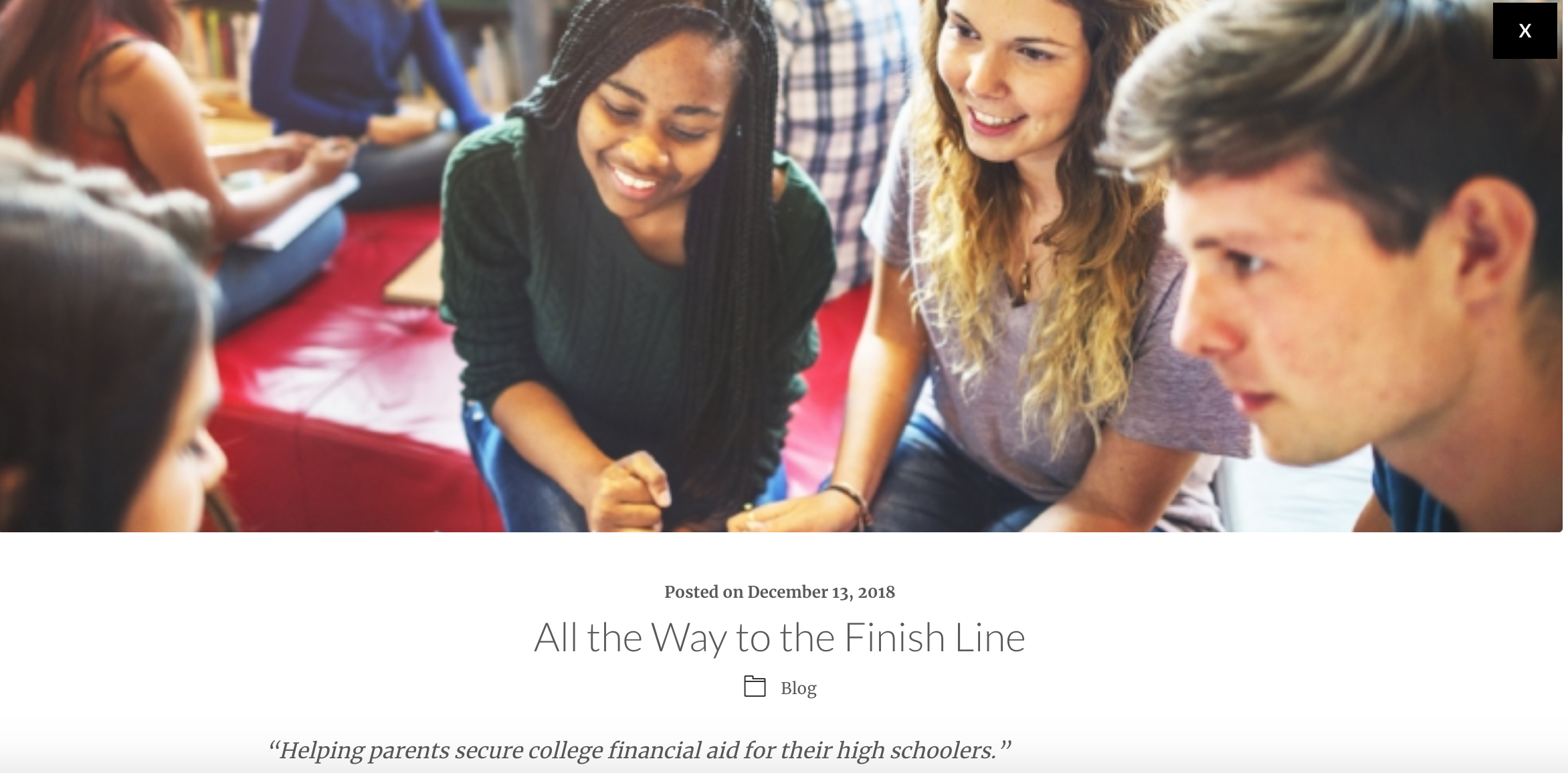 All the Way to the Finish Line - https://www.wisecounsel-inc.com/insights/blog/all-the-way-to-the-finish-line/