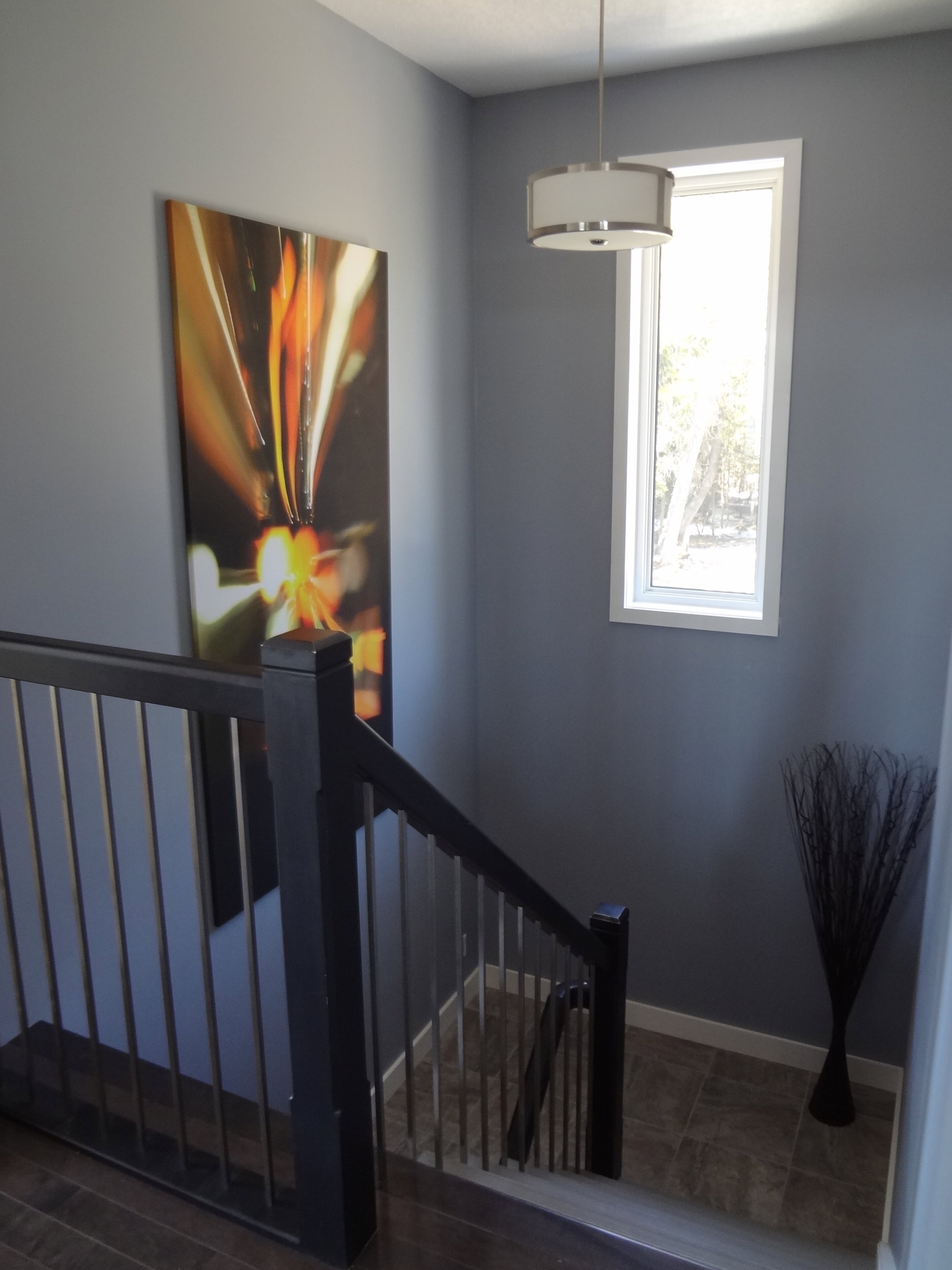 Wide Stairwell with Large Landing
