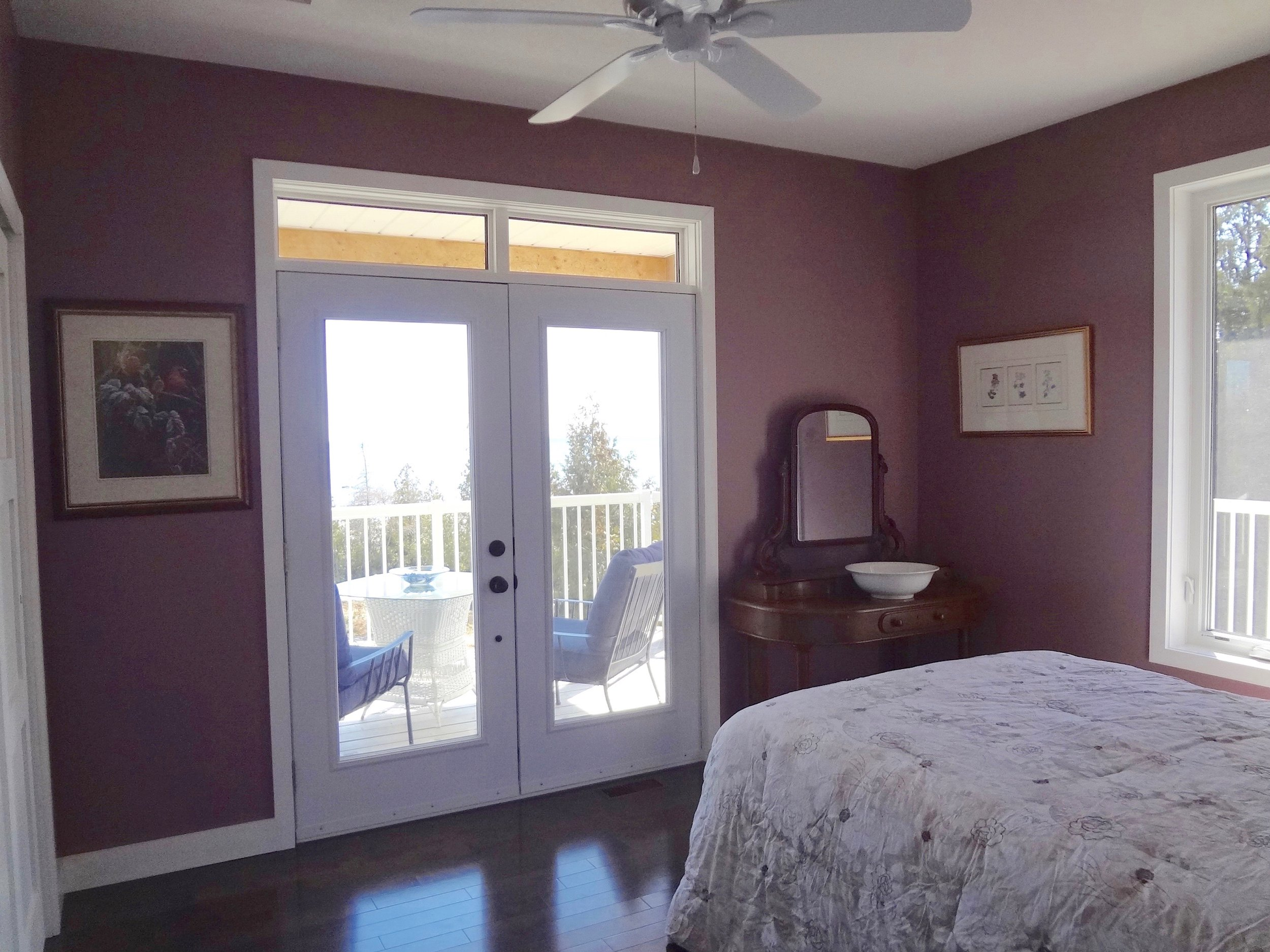 Second Bedroom with Walkout to Water & Double Closets