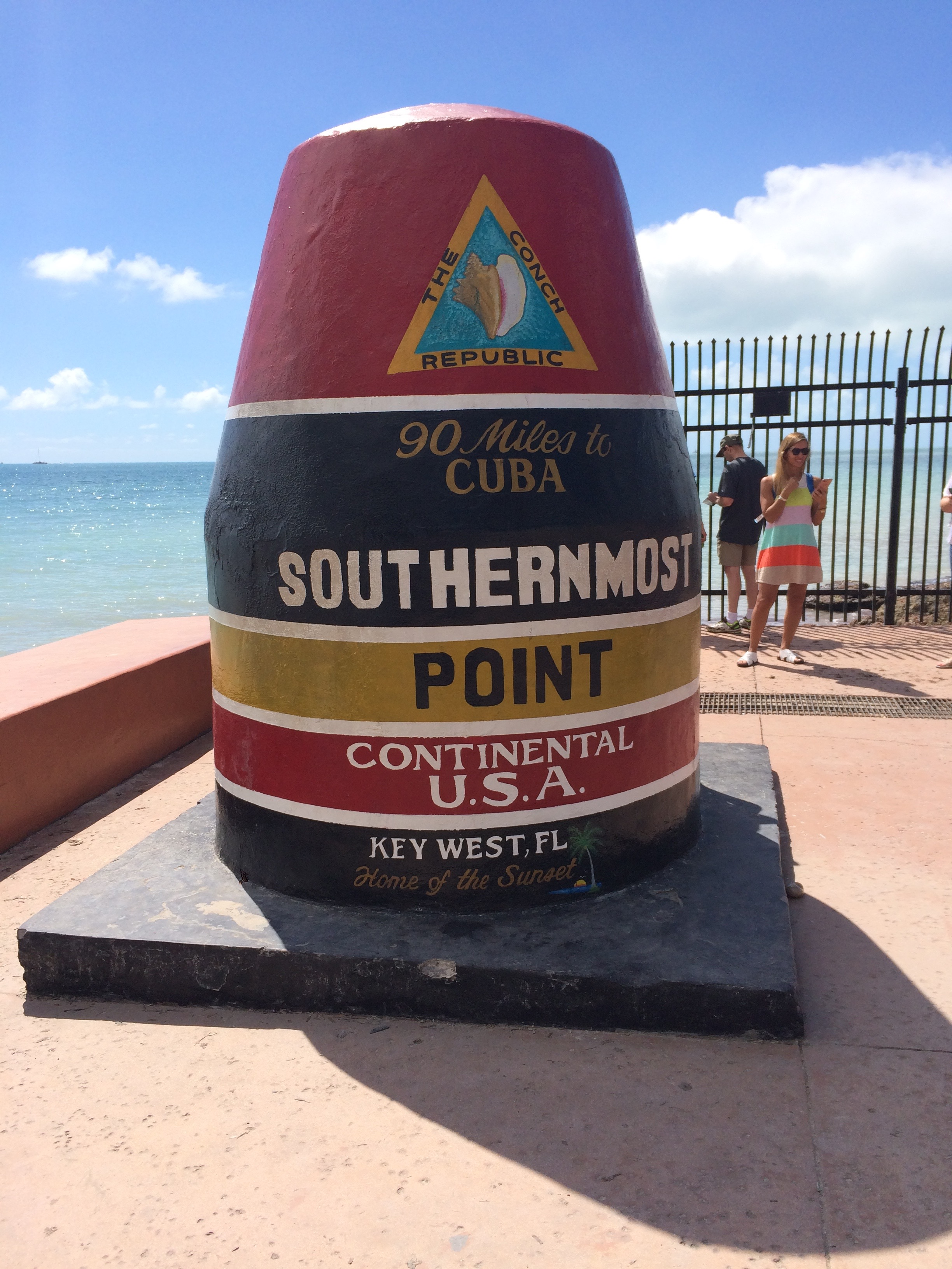 The southernmost point in the USA, Key West, FL