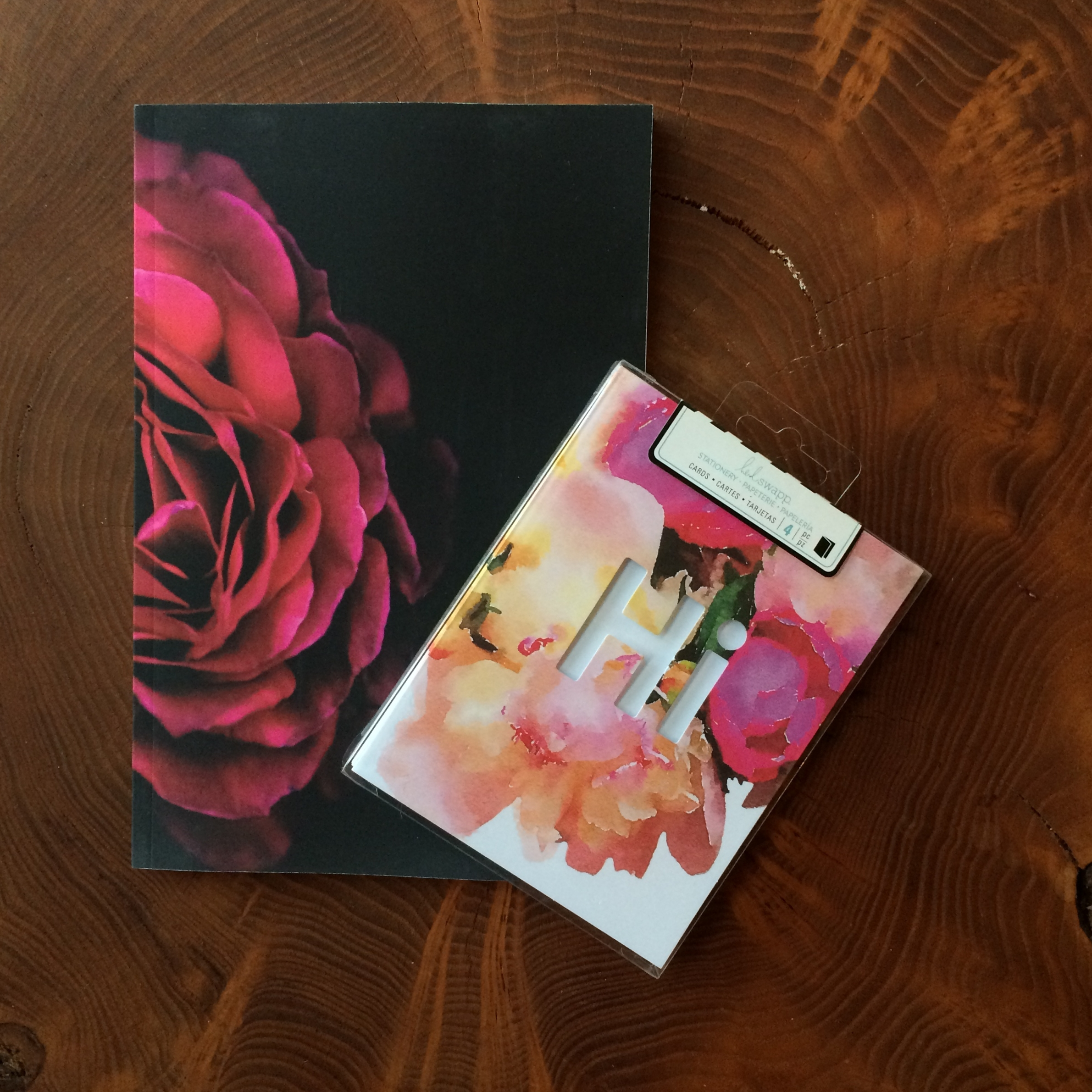 "Floral journal for important ""Maid of Honor"" business, and cute cards for a handwritten note!"