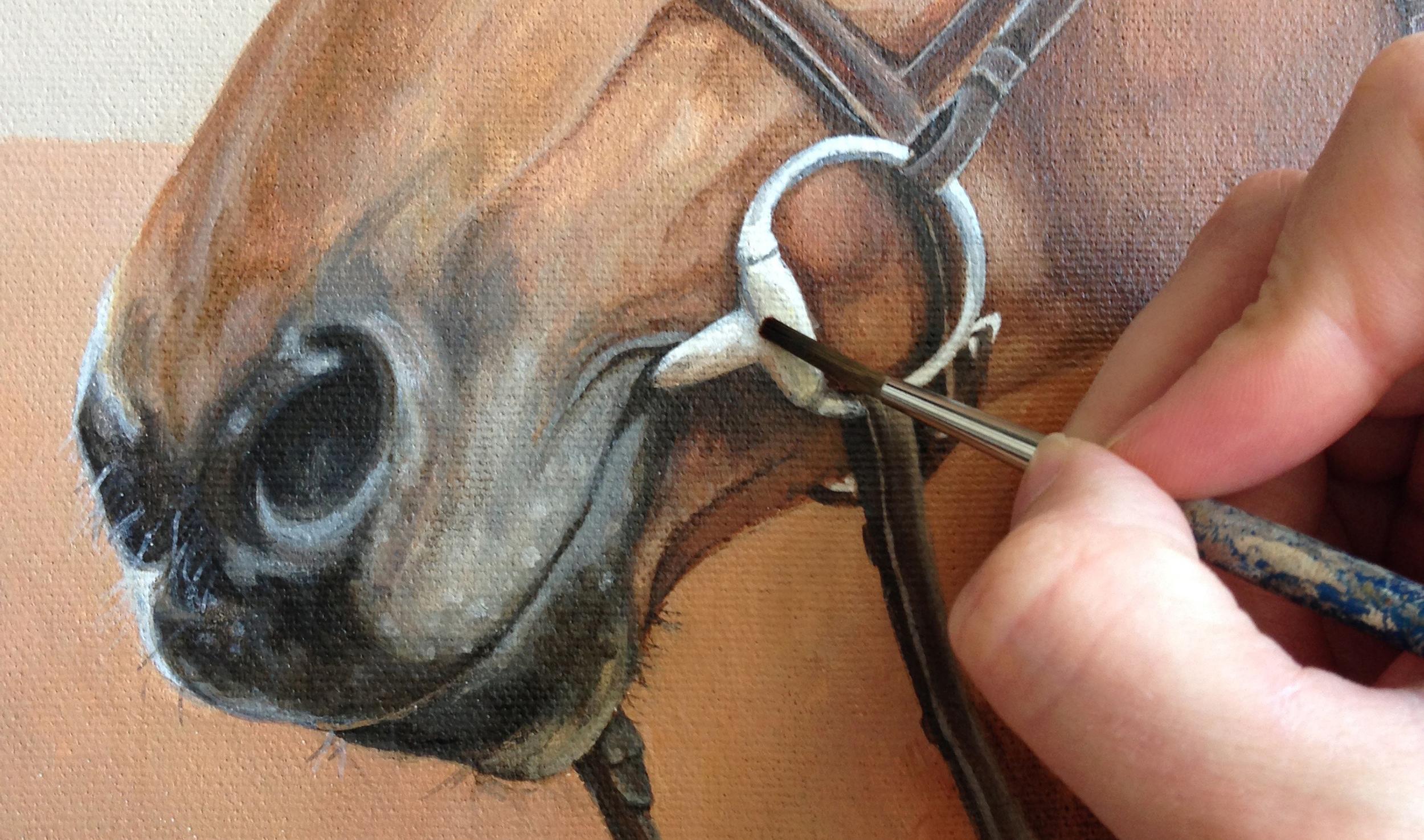 Bellagio, horse painting details.