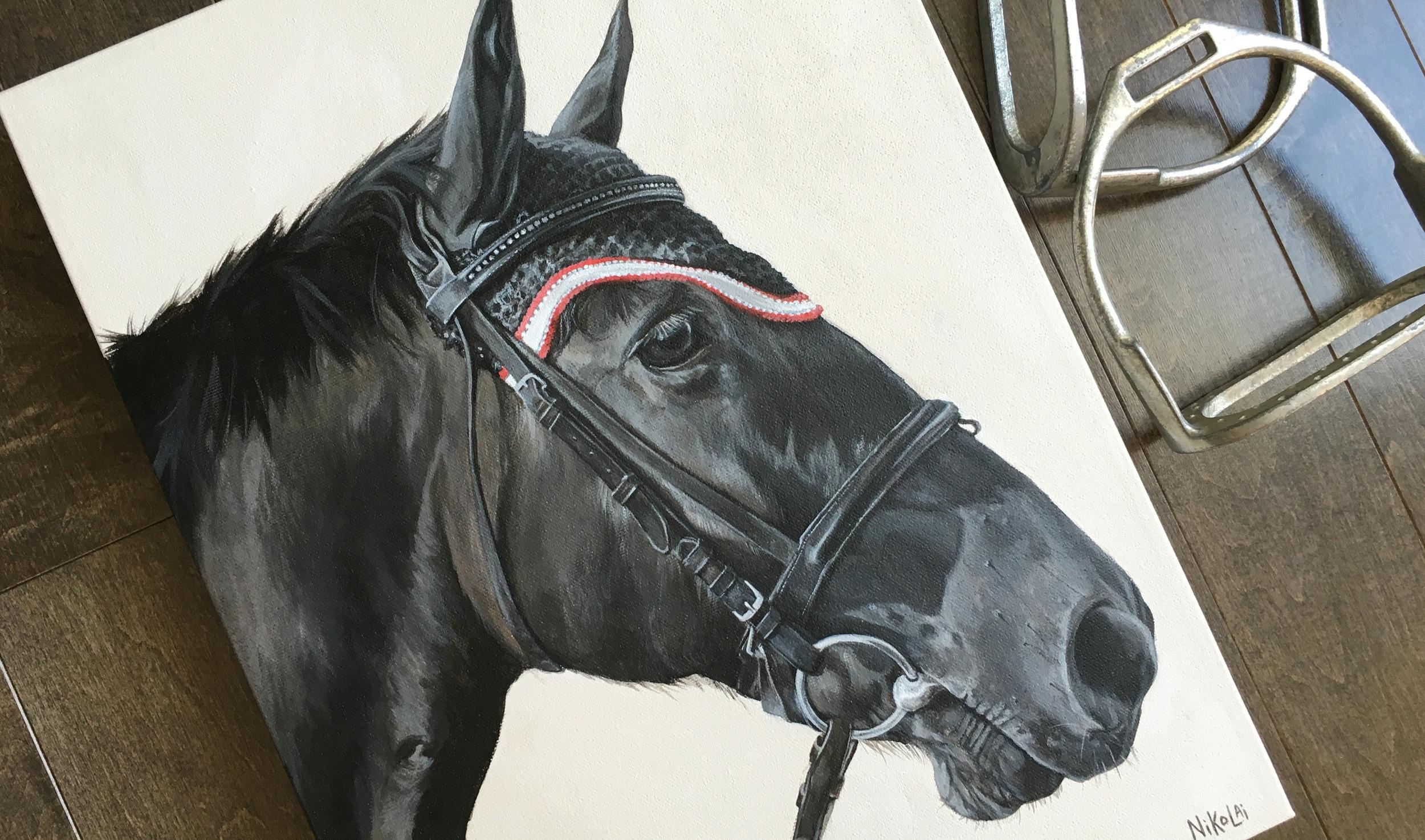 Noble (Canadian) portrait painting