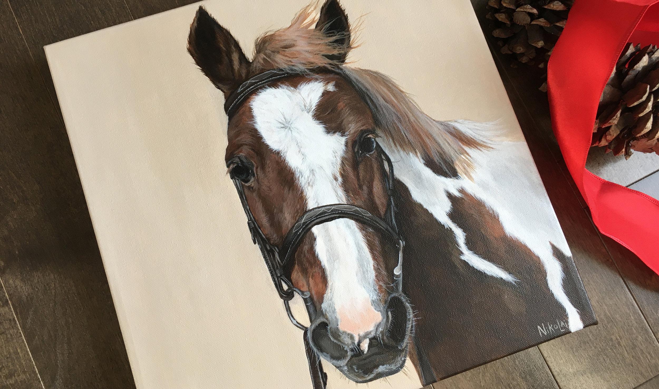 Fancy Nancy (Paint pony) portrait painting