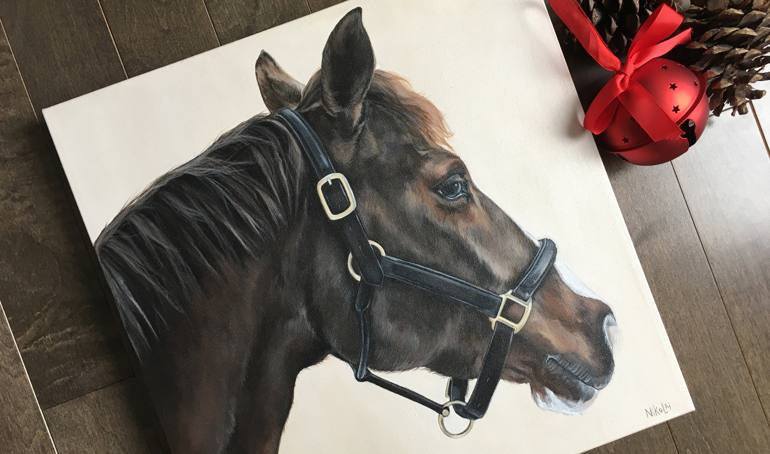 Gerti (Warmblood) portrait painting