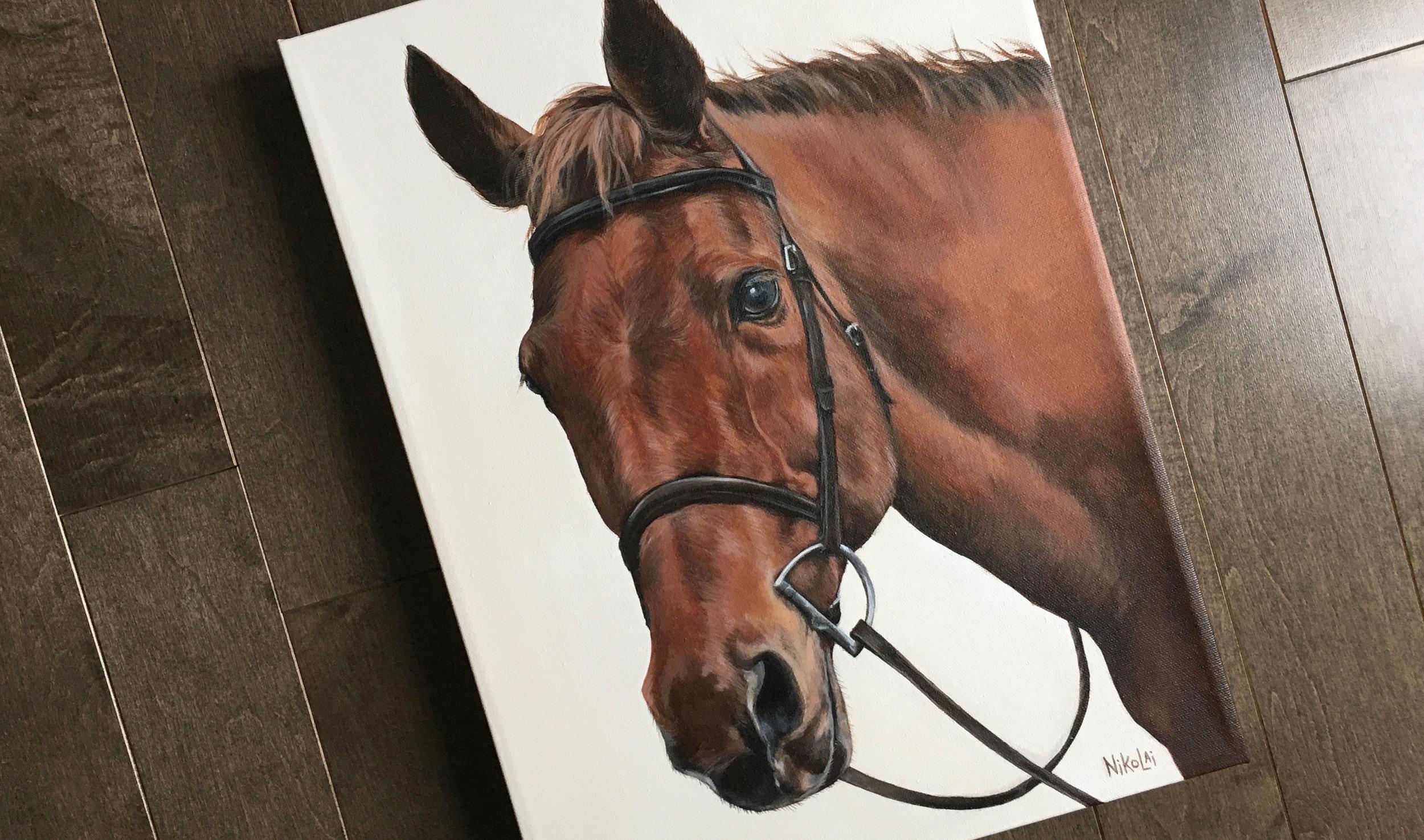 Charleston horse portrait painting