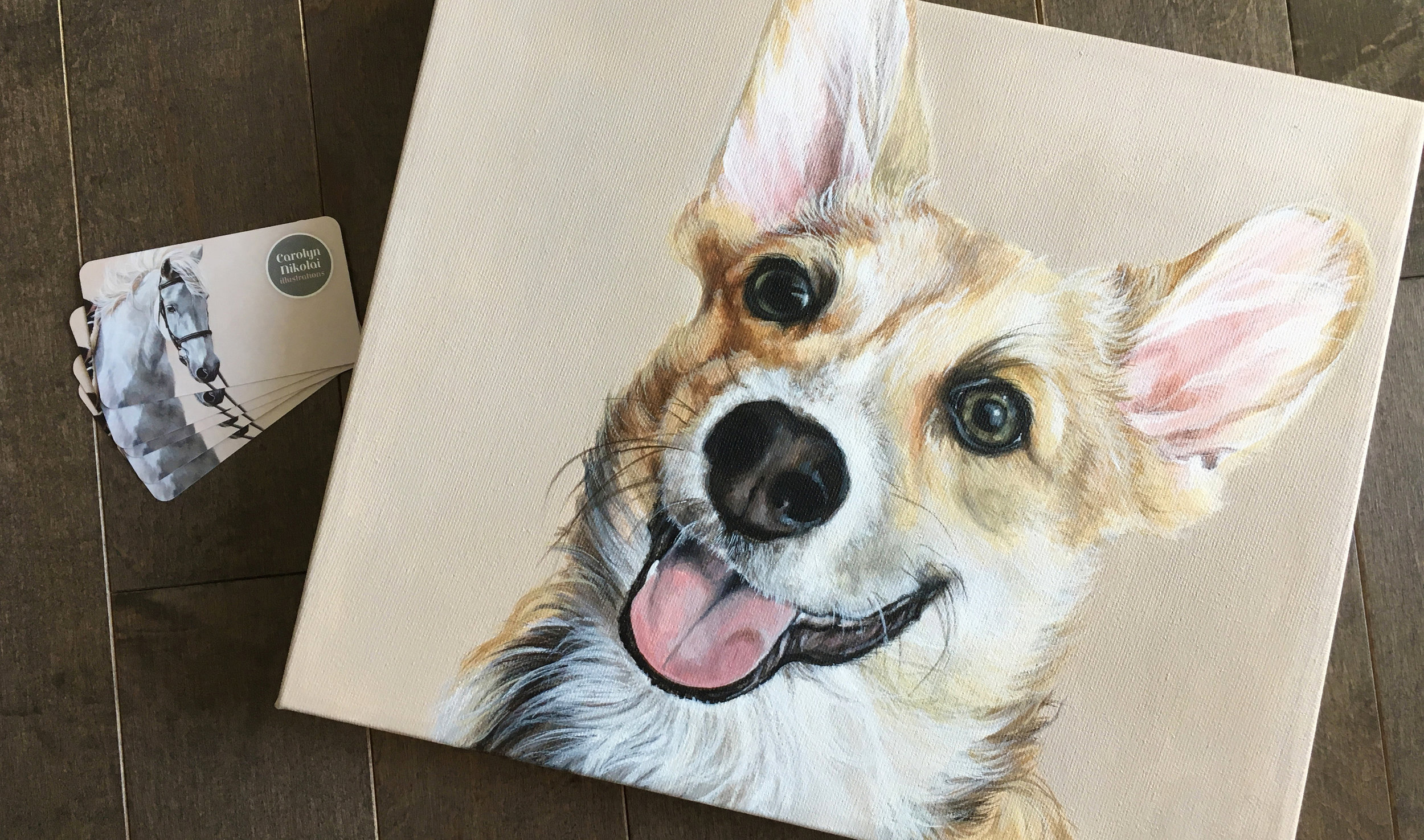 Kenzie (Corgi) painting donation