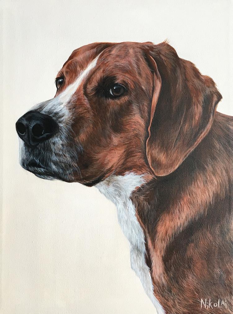 BENDER  | Acrylic on gallery style canvas, 12 x 16 | Kanata, ON | SOLD