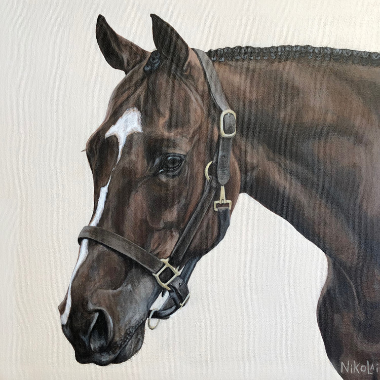 KAZ    Acrylic on gallery style canvas, 12 x 12   Lindsay, ON   SOLD