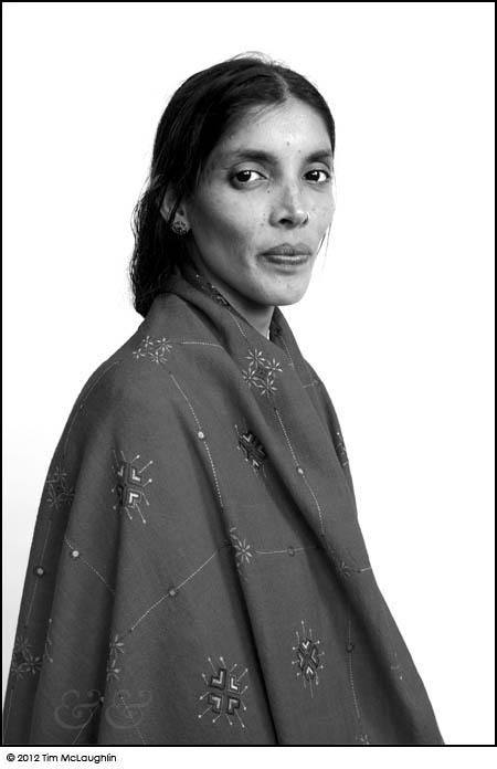 Laxmi Duclos, Banjara Embroiderer, Taken October 28, 2012.