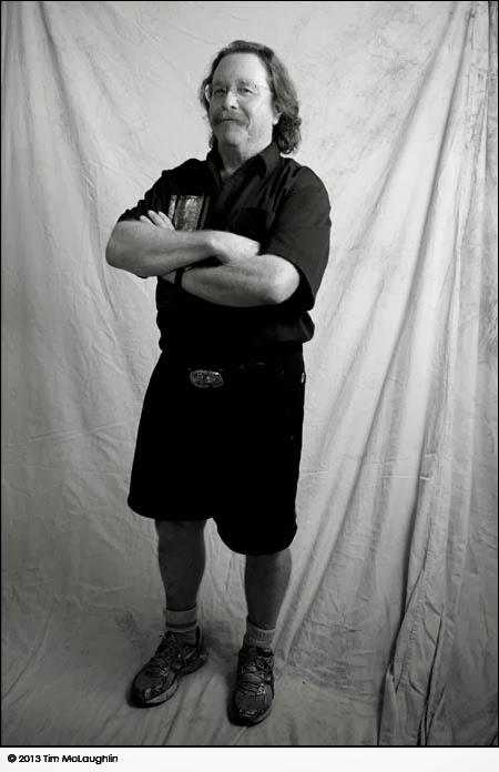 Peter Braune, printmaker, taken February 8, 2013
