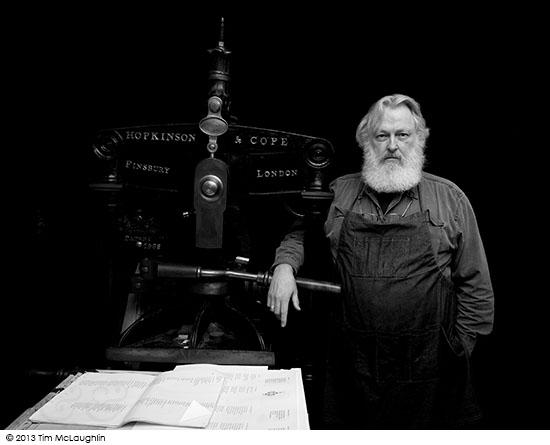 Crispin Elsted, printer, poet, April 30, 2013.