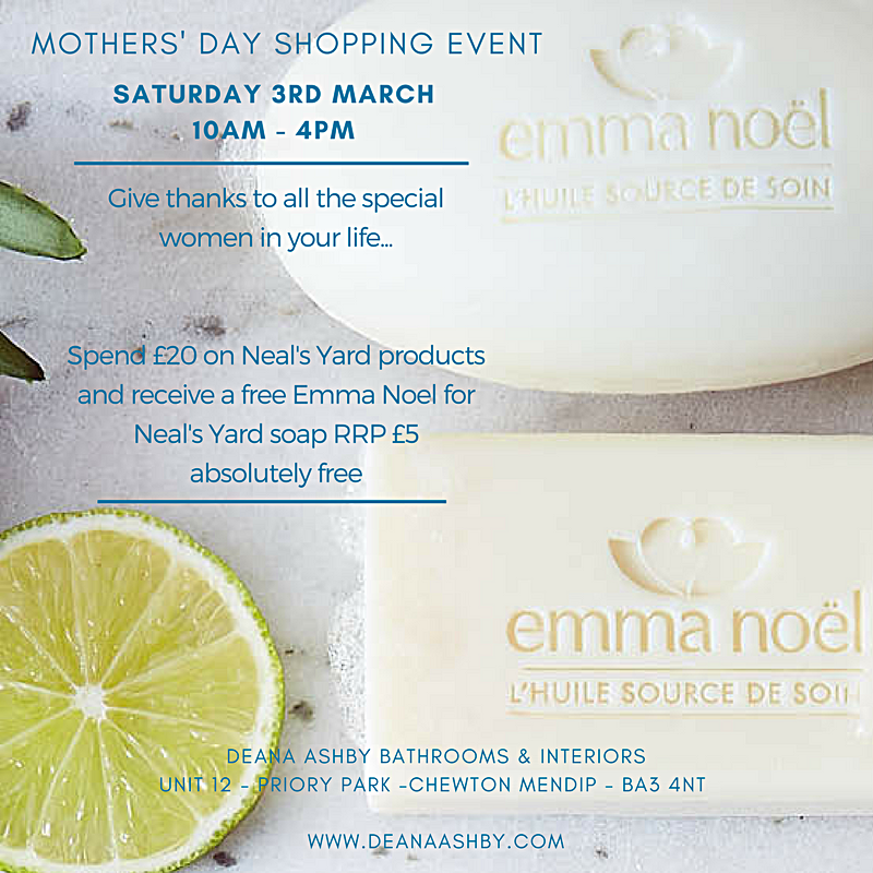 Mother's Day Shopping Event - Pleased to announce our next shopping event is on Saturday 3rd March 2018 Promotions on Neal's Yard products on the day, bring a friend, all welcome!