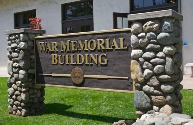 War Memorial Building Sign