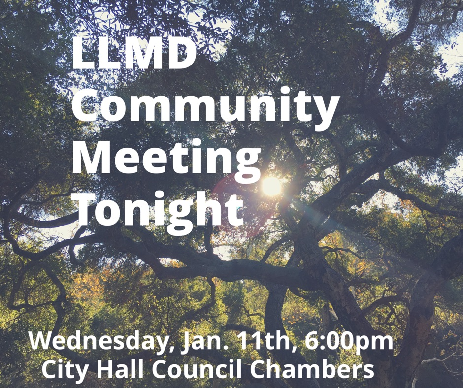 You are invited to a commute meeting concerning the Landscape, Lighting and Maintenance District update. The meeting will be held in the Council Chambers and the South Pasadena City Hall Wednesday, January 11th at 6:00pm.