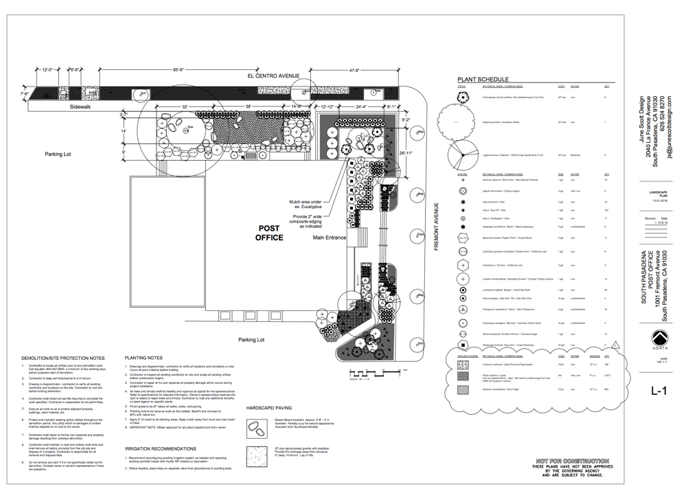 Plan prepared and donated by June Scott