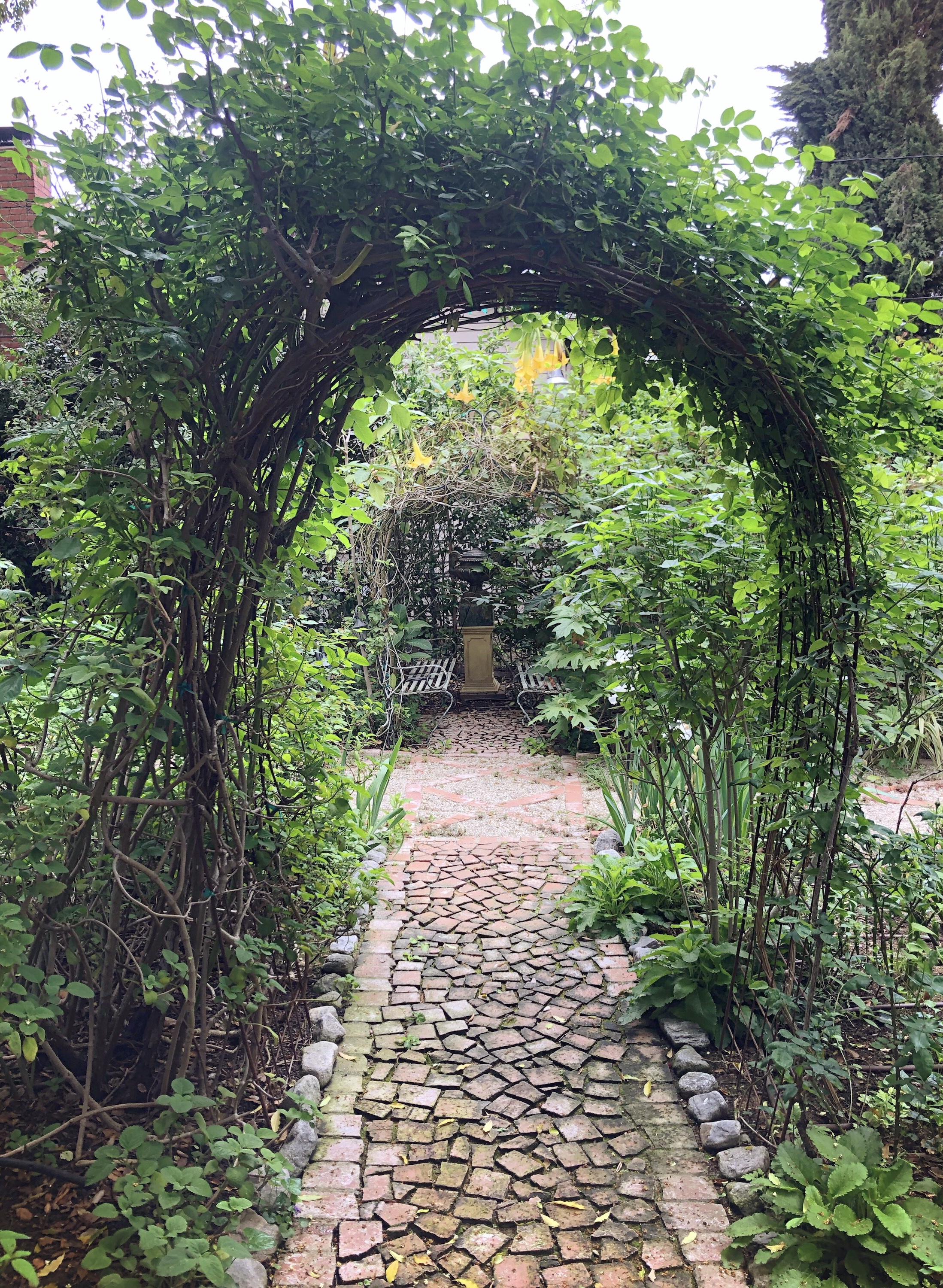 Kate and Odom Stamps' lush garden is full of paths leading to beautiful surprises.