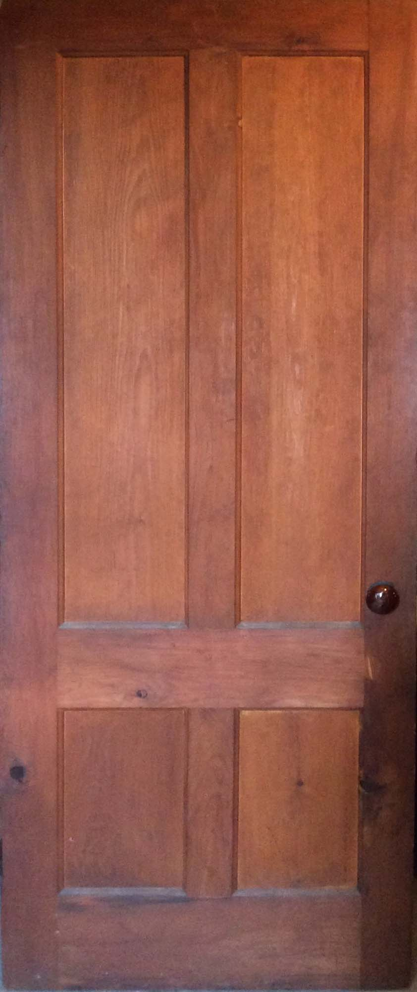 Natural Finish Stained 4-Panel Door