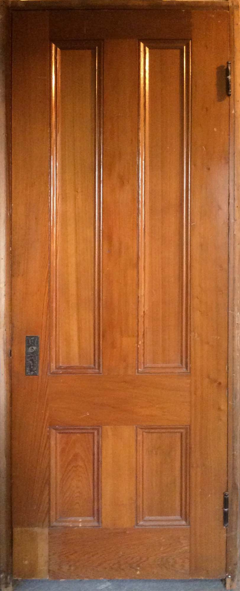 Natural Varnished 4-Panel Door