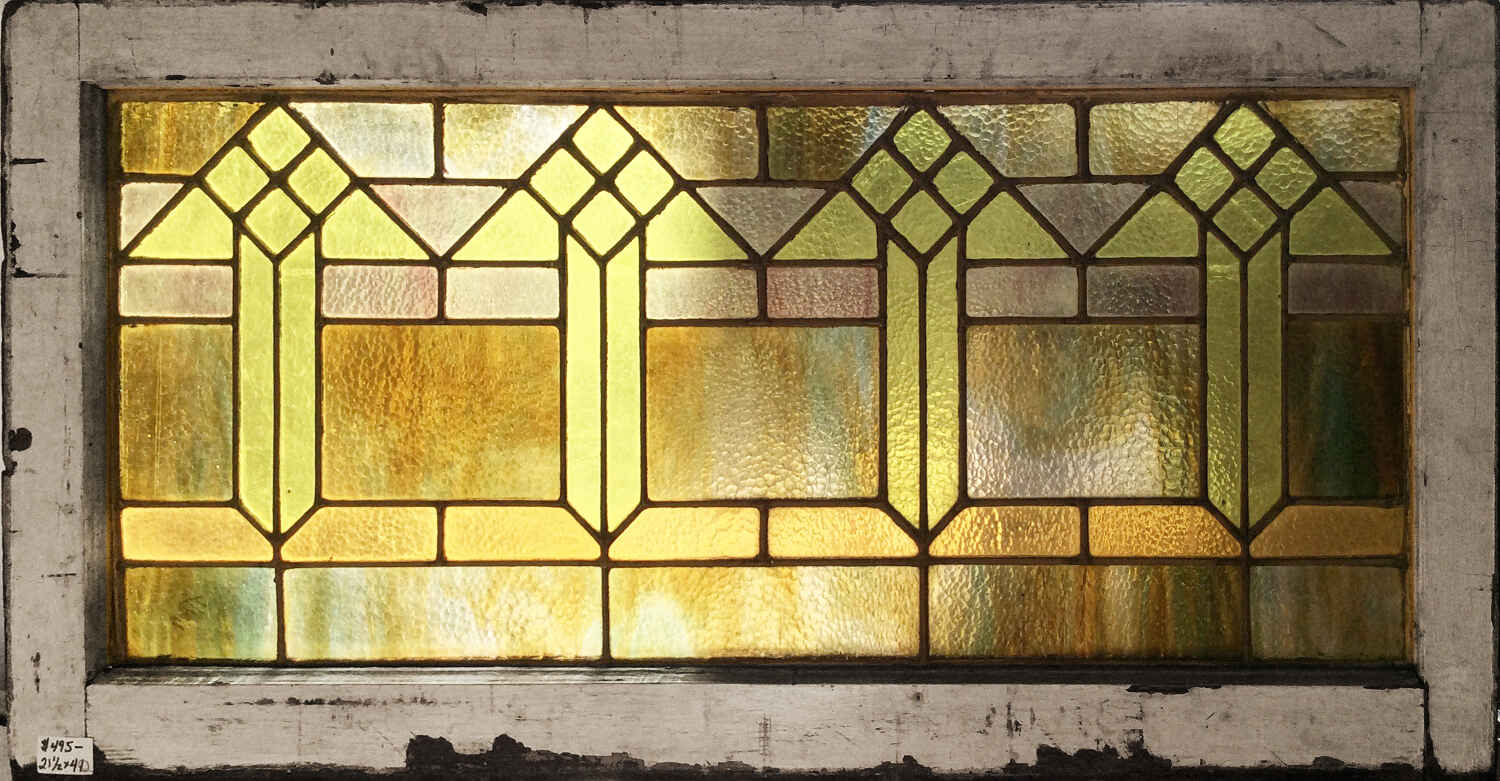 SOLD Art Deco Stained Glass Window