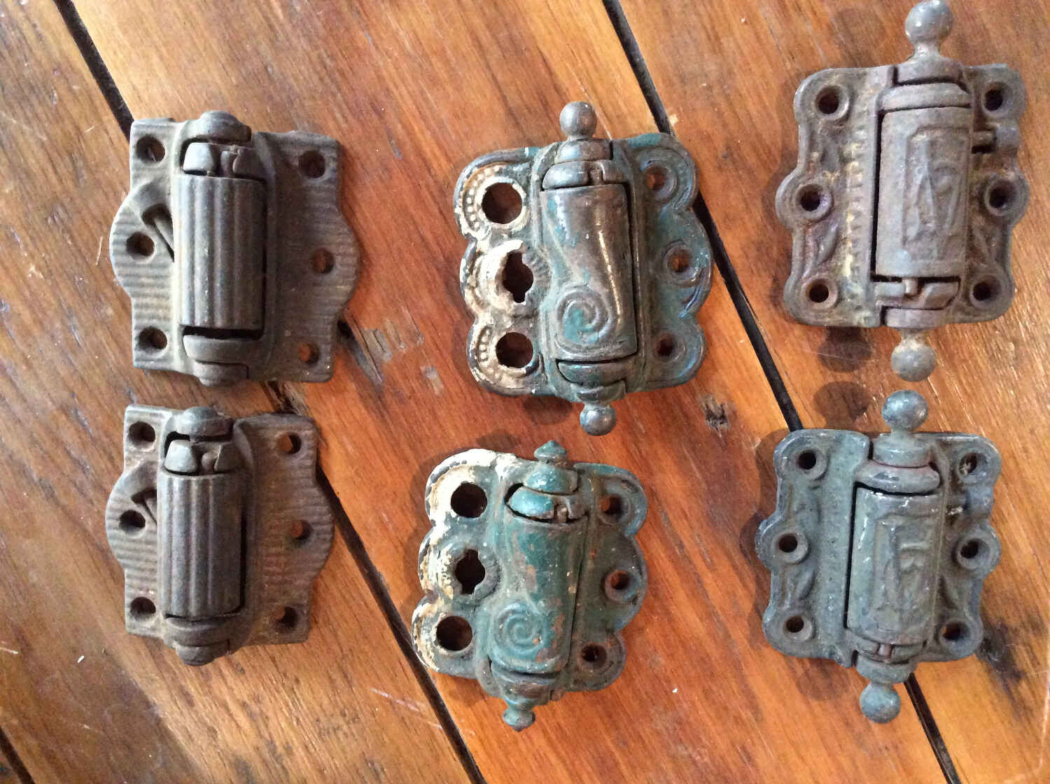 Antique Spring-loaded Screen Door Hinges