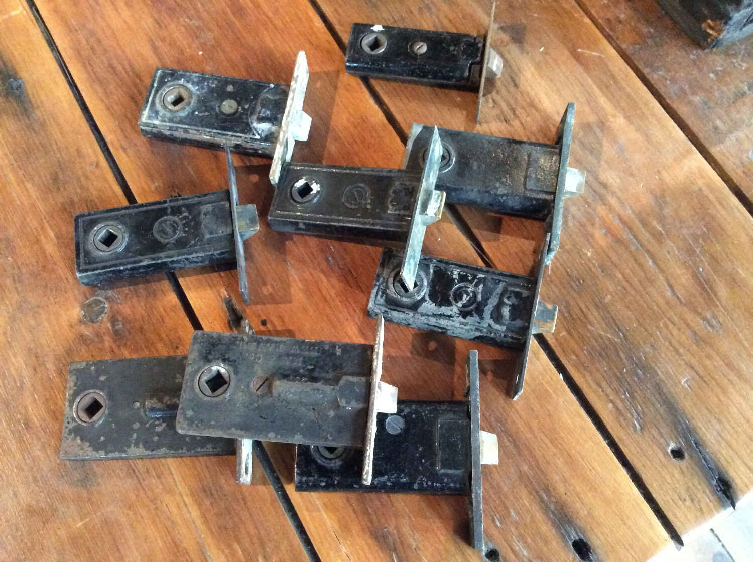 Small Antique Mortise Door Latches