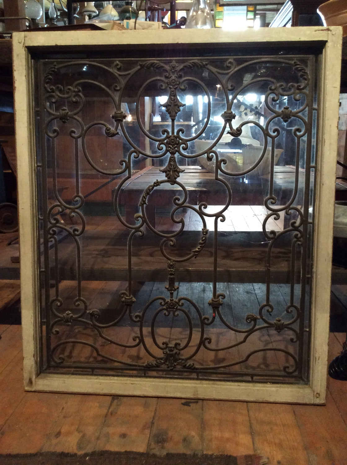 Antique French Leaded Glass Window