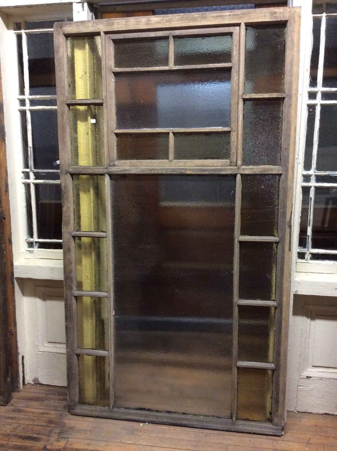 Oversized Queen Anne Style Privacy Glass Window