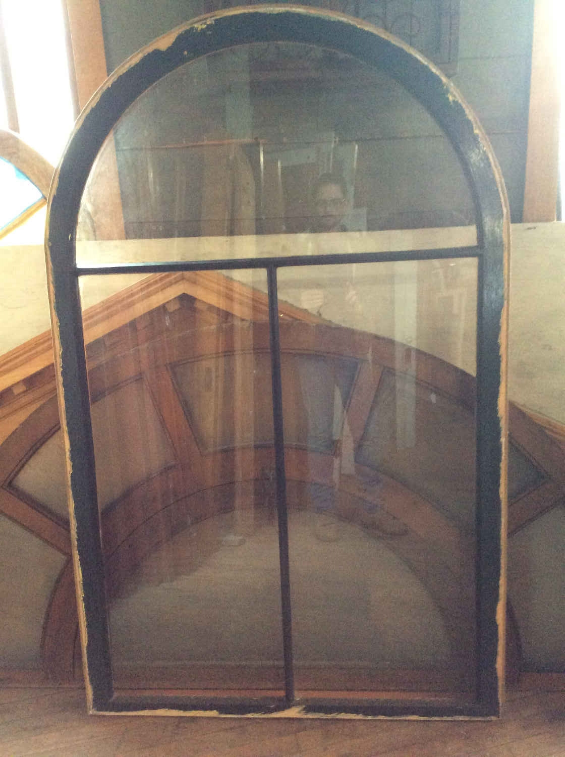 SOLD!!  Arched Top Window with 3 Panes